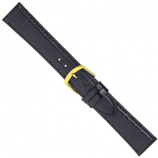 Uhrenarmband Ersatzband Leder Band Schwarz 26563G