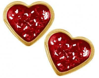 Studex Erstohrstecker rotes Herzmotiv Ohrschmuck Ohrringe Edelstahl 100% Steril
