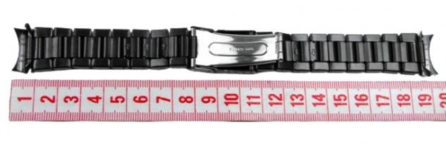 Ersatzband Uhrarmband 6 x Wechselanstoß IP schwarz 18mm, 20mm, 22mm 23942 - Vorschau 3