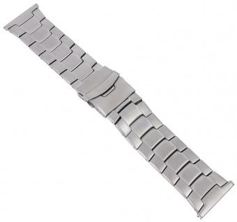 Minott Uhrenarmband Herren Edelstahl 30mm Band silberfarben 29759S