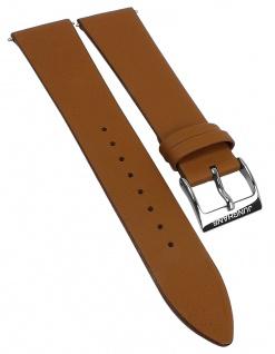 Junghans Chronoscope Herren Ersatzband 21mm Leder braun glatt 041/4774