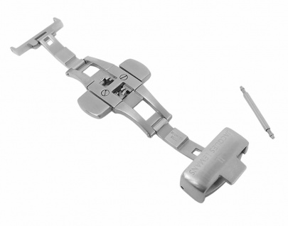 Ersatzschließe Faltschließe aus Edelstahl für Jacques Lemans Lederband F-5006