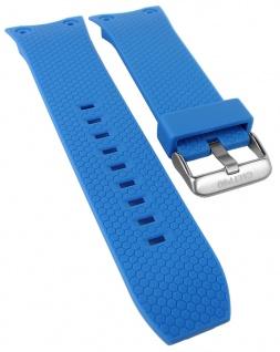 Calypso Ersatzband blau Kunststoff Breitdornschließe silberfarben K5705/5 K5705