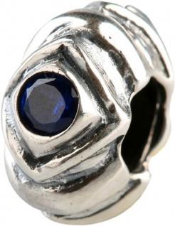 Charlot Borgen Marken Damen Bead Beads Drops Silber mit Zirkonia SCZ-06-Blau