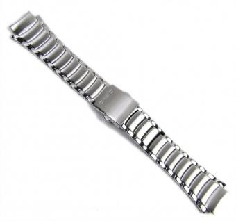 Casio Uhrenarmband Edelstahl Band Silberfarben für EF-512D