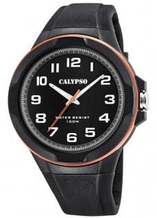 Calypso Herrenuhr analog schwarz Kunststoff Armbanduhr Uhr K5781/6
