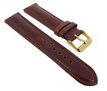Graf Manufaktur Appaloosa Uhrenarmband Cordovan Leder Braun mit Naht 731.1.21 - 27267