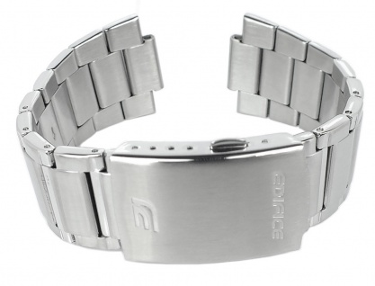 Casio Armband | Uhrenarmband Edelstahl Band Silberfarben für ERA-110D
