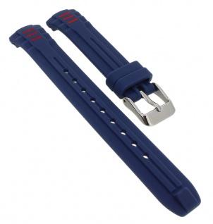 Calypso Ersatzband aus Silikon in blau mit Schließe silberfarben Spezial Anstoß K5757/5
