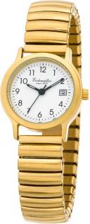 Eichmüller Damenuhr | Armbanduhr Analoguhr Quarzuhr Edelstahluhr gelbgoldfarben mit flexiblem Zugband 30000