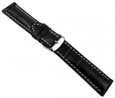 Swiss Chrono II Uhrenarmband Kalbsleder schwarz 20651S
