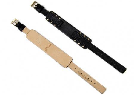 s.Oliver Uhrenarmband Leder Band 12mm schwarz SO-2013-LQ - Vorschau 3