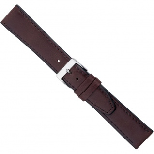 Uhrenarmband Ersatzband Leder Band Dunkelbraun 26588S