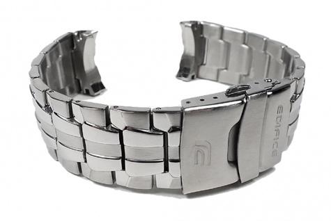 Casio Uhrenarmband Edelstahl Band Silberfarben für EF-550D EF-550RBSP