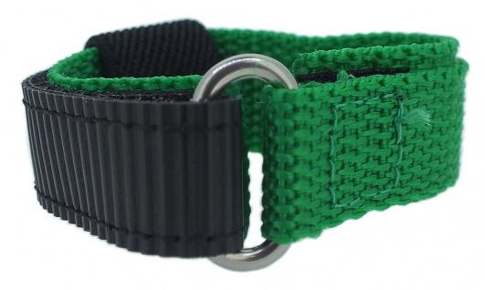 s.Oliver Ersatzband 16mm Klettverschluß schwarz / grün Nylon SO-3225-LQ
