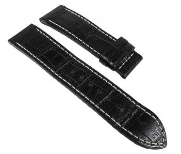 Jaguar Uhrenarmband Leder Band schwarz - für Faltschließe J614