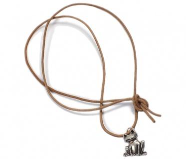 Minott Kette braunes Lederband zum verknoten mit Frosch Anhänger 21448