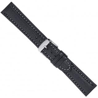 Uhrenarmband Ersatzband Leder Schwarz 26558S