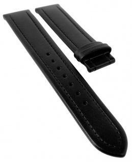 Junghans MEGA SOLAR Ersatzband 20mm Leder schwarz mit Naht 018/1610 017/1631