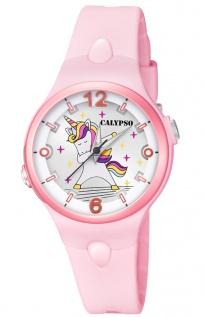 Calypso Kinderuhr K5784 analog rosa Kunststoff Quarz Einhornmotiv K5784/1