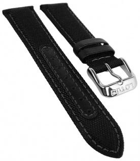 Lotus Watches Ersatzband 18mm schwarz Leder / Textil 18581 18581/1