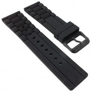 Hugo Boss | Uhrenarmband Silikon schwarz 24mm Modell 1513004 30106B