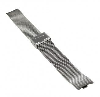 Timex Uhrenarmband Edelstahl Band Milanaise Silberfarben hochglanz für T2P167