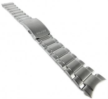 Casio Armband | Uhrenarmband Edelstahl Band Silberfarben für Edifice EFR-526D