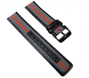 s.Oliver Uhrenarmband Leder/Textil Band 20mm SO-2204-LQ