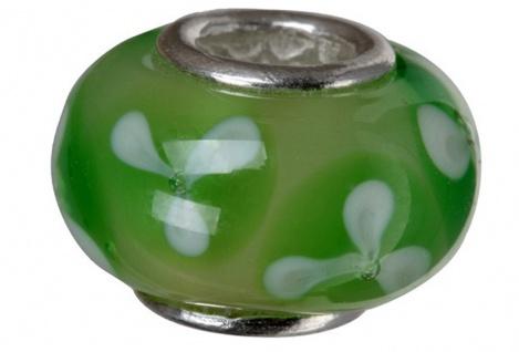 Charlot Borgen Marken Damen Bead Beads Drops Kristallglas Silberkern GPS-62Grün