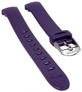 Calypso Watches Uhrenarmband Ersatzband Kunststoff Band lila schimmernd für Modell K5677/2