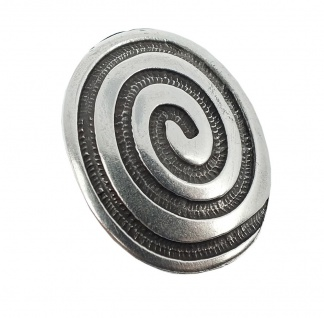 Minott Kette Schmuck Anhänger Spirale Messing im Used Look / 27985