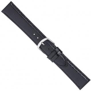 Uhrenarmband Ersatzband Leder Band Schwarz 26562S