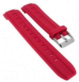 Calypso Ersatzband rot Kautschuk Spezial Anstoß Schließe silberfarben K5760 K5760/3