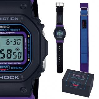 Casio G-Shock Digital Herrenuhr Display Flasher Stoßfest schwarz DW-5600THS-1ER