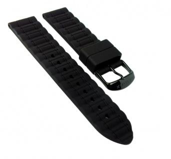 Timex Sport Uhrenarmband Silikon-Band schwarz 20mm für T2N829