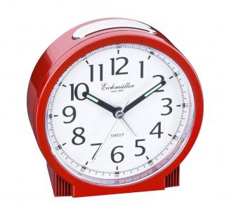 Wecker | Alarm Analog > Snooze > Kunststoff > rot > mit schleichender Sekunde