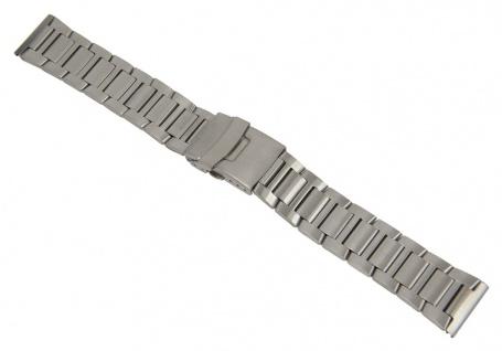 Minott Uhrenarmband Edelstahl Band Silberfarben matt 26864