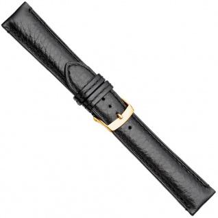Herzog London Premium Uhrenarmband Kalbsleder Band Schwarz 20877G