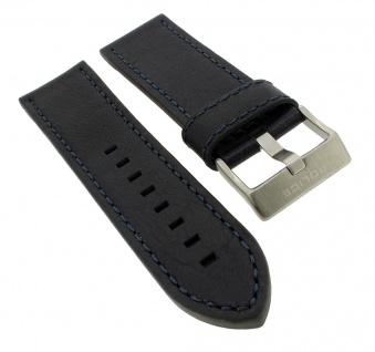 Police Serie D-JAY | Ersatzband aus Leder, schwarz mit Dornschließe für Armbanduhr P14835JS/02
