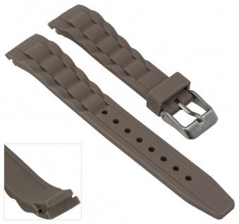 s.Oliver Uhrenarmband Silikon Band 17mm blasbraun weich SO-2574-PQ