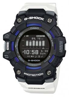 Casio G-Shock Herren Armbanduhr weiß Training Planner Stoßfest GBD-100-1A7ER