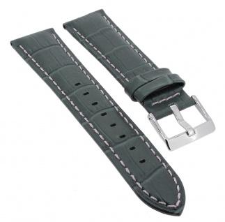 Lotus Watches Navona Ersatzband 23mm in grün aus Leder mit Krokoprägung 15387/6 15387