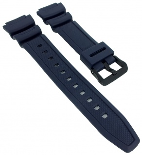 AE-1000W AE-1100W Armband blau Casio Collection Ersatzband Resin