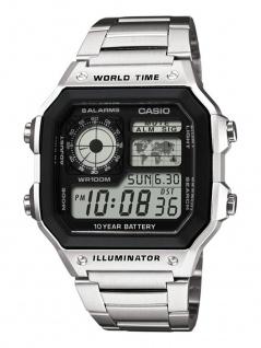 Casio Collection Herrenuhr Armbanduhr Edelstahl Uhr Digitaluhr AE-1200WHD-1AVEF