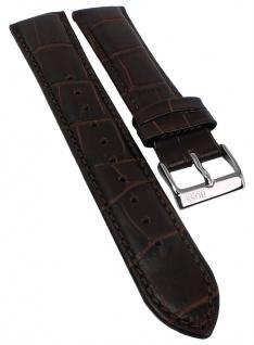 Hugo Boss Ersatzband Leder Kroko-Optik braun Ton-in-Ton-Naht 20mm 151328