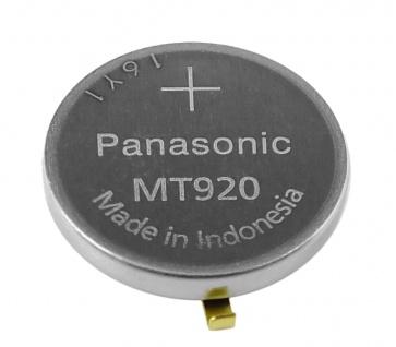 Panasonic Knopfzelle Akku / Batterie MT920 Lithium Ionen (LiIon) mit Fähnchen - Vorschau 2