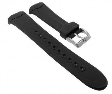 Timex Ironman Marathon Uhrenarmband Kunststoff PU-Band schwarz für T5B941