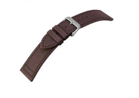 Canvas Uhrenarmband Band Materialmix Textil Leder 20mm 25950S