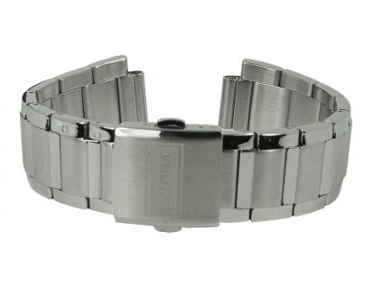 Uhrenarmband Edelstahl Band 23mm silberfarben passend zu allen F16608